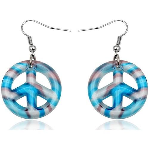 Watches Women Earrings Blue Pearls Blue Murano Glass Peace Earrings Green