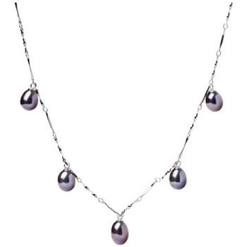 Watches Women Necklaces Blue Pearls Black or White dangling Freshwater Pearl Necklace and white Gold Black