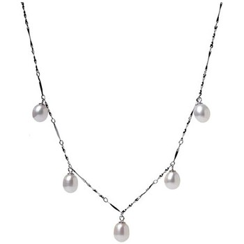 Watches Women Necklaces Blue Pearls Black or White dangling Freshwater Pearl Necklace and white Gold White