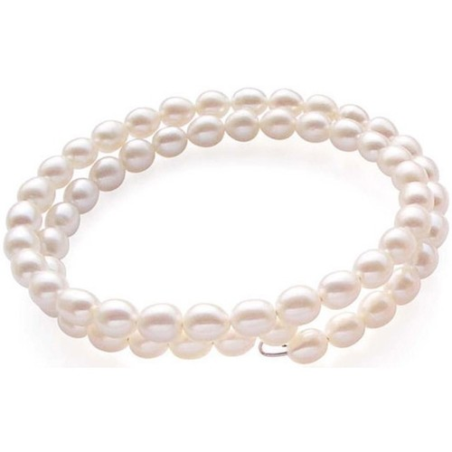 Watches Women Bracelets Blue Pearls White or Black Freshwater Pearl Stretchy Bangle White