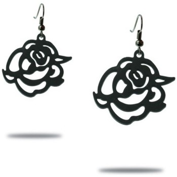 Watches Women Earrings Blue Pearls Black Silicone Gum Roses Dangling Earrings Multicolored