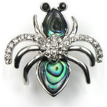 Watches Women Brooches / pins Blue Pearls Abalone and sparkling Cz Stone Bee Brooch and Silver Plated Copp Other