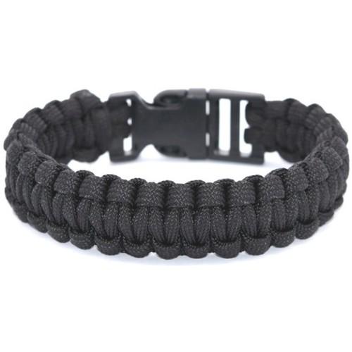 Watches Women Bracelets Blue Pearls Black Wire Survival Bracelet Multicolored