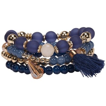 Watches Women Bracelets Blue Pearls and Crystal Multirows Bracelet Multicolored