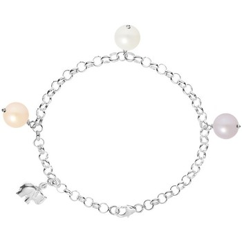 Watches Women Bracelets Blue Pearls White Peach and Lavender Freshwater Pearl Elephant Bracelet and Multicolored