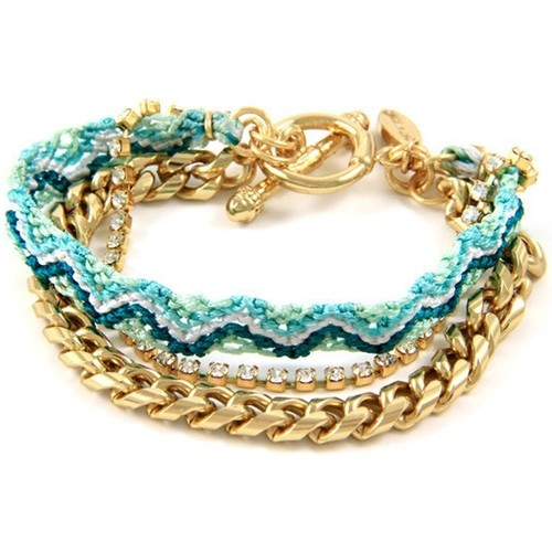 Watches Women Bracelets Blue Pearls Ettika - Green Braided Cotton, White Crystal Friendship Bracelet Multicolored