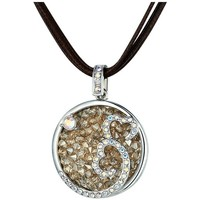Watches Women Necklaces Blue Pearls Champagne Swarovski Crystal Elements Hearts Necklace and Rhodium Multicolored
