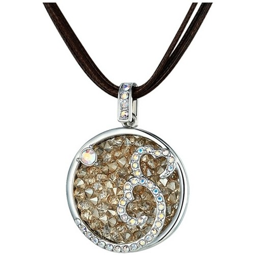 Watches Women Necklaces Blue Pearls CRY E264 J Silver
