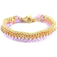 Watches Women Bracelets Blue Pearls Ettika - Lavender Braided Cotton, White Crystal Bracelet and Yel Multicolored