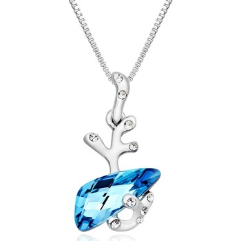 Watches Women Pendants Blue Pearls Blue Swarovski Crystal Elements Pendant and Rhodium Plated Multicolored