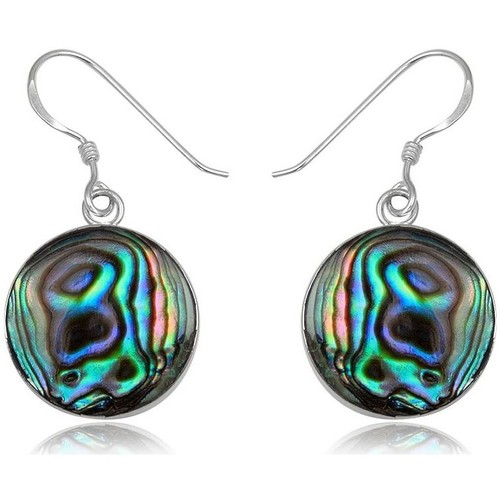 Watches Women Earrings Blue Pearls 925 Silver and Abalon Dangling Earrings Multicolored