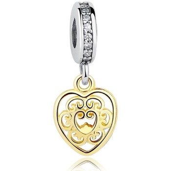 Watches Women Pendants Blue Pearls Charms Bead Pendant Heart in Silver 925 Multicolored