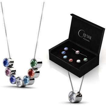 Watches Women Pendants Blue Pearls Set 7 Pendants Crystal Swarovski Elements Multicolored