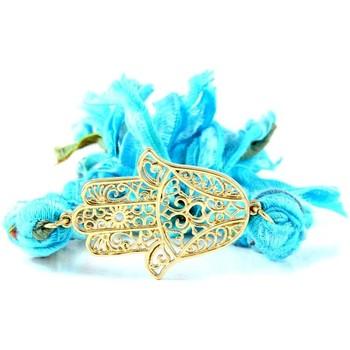Watches Women Bracelets Blue Pearls ETK 0130 Hamsa Blue