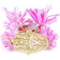 Watches Women Bracelets Blue Pearls ETK 0129 Pink