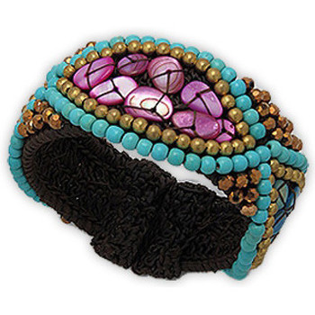 Watches Women Bracelets Blue Pearls NUB 3124 E Multicolored