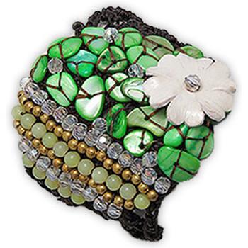 Watches & Jewellery  Women Bracelets Blue Pearls NUB 3123 E Green