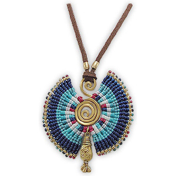 Watches Women Necklaces Blue Pearls NUB 3218 E Multicolored