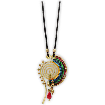Watches Women Necklaces Blue Pearls Pearls and Gold Metal Spiral Necklace Multicolored