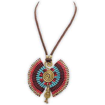 Watches Women Necklaces Blue Pearls Multicolor Pearls and Gold Metal Spiral Necklace Multicolored