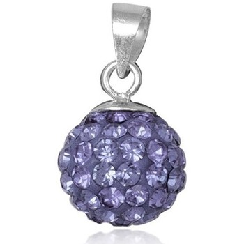 Watches Women Pendants Blue Pearls Purple Crystal Bead Pendant and 925 Silver Multicolored