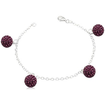 Watches Women Bracelets Blue Pearls Purple Crystal Beads Bracelet and 925 Silver Multicolored
