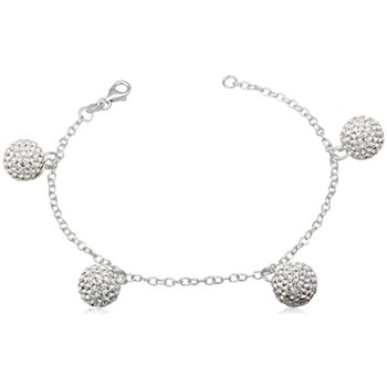 Watches Women Bracelets Blue Pearls White Crystal Beads Bracelet and 925 Silver Multicolored