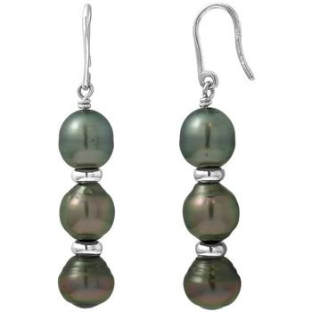 Watches & Jewellery  Women Earrings Blue Pearls BPS K380 W Green