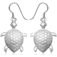 Watches Women Earrings Blue Pearls 925 Silver Turtle Dangling Earrings Multicolored