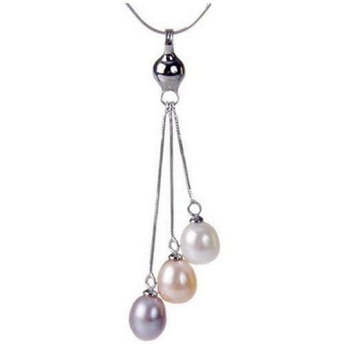 Watches Women Pendants Blue Pearls Multicolor Freshwater Pearl Pendent and Silver Clasp Multicolored
