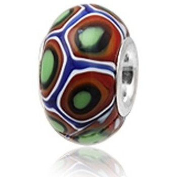 Watches Women Pendants Blue Pearls Red and Green Murano Glass Charms Bead and 925 Silver Multicolored