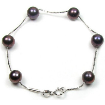 Watches Women Bracelets Blue Pearls Black Freshwater Pearls Bracelet Multicolored