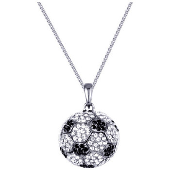 Watches Women Necklaces Blue Pearls Black and White Football Necklace with 300 Swarovski Crystals Multicolored