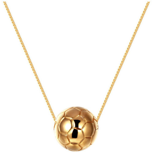 Watches Women Necklaces Blue Pearls Yellow Gold Plated Football Necklace Multicolored