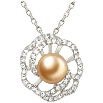Watches Women Pendants Blue Pearls Gold Pearl and Swarovski Crystal Elements Flower Pendant Multicolored