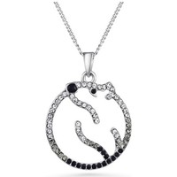 Watches Women Pendants Blue Pearls Black Swarovski Crystal Elements Polar Bear Pendant and Rhodium Multicolored
