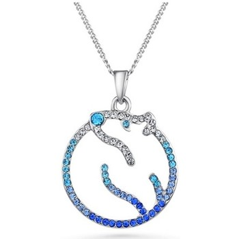 Watches Women Pendants Blue Pearls Blue Swarovski Crystal Elements Polar Bear Pendant Multicolored