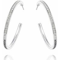 Watches & Jewellery  Women Earrings Blue Pearls CRY B358 W Black