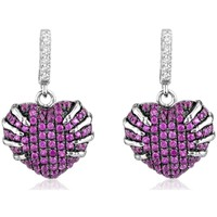 Watches Women Earrings Blue Pearls 152 White and Pink Swarovski Zirconia and 925 Silver Earrings Multicolored