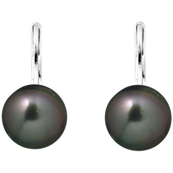 Watches Women Earrings Blue Pearls Black Tahitian Pearl Earrings and Silver 925/1000 Multicolored