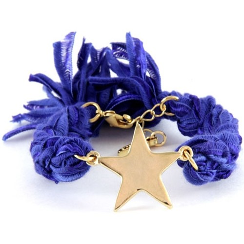 Watches Women Bracelets Blue Pearls Ettika - Purple Ribbons and Yellow Gold Star Bracelet Purple
