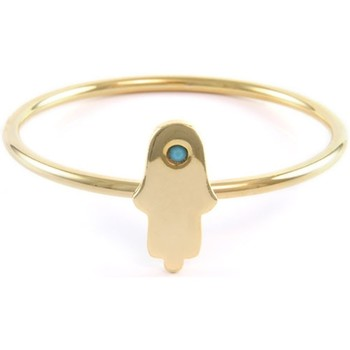 Watches Women Bracelets Blue Pearls Ettika - Hamsa Yellow Gold Bangle Bracelet Multicolored