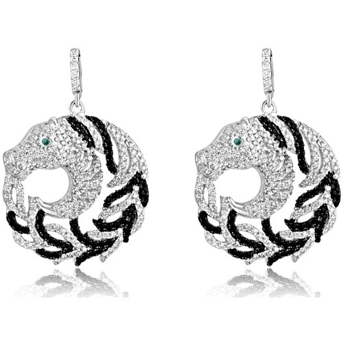 Watches Women Earrings Blue Pearls 470 White and Black Swarovski Crystal Zirconia Horse Earrings an Multicolored