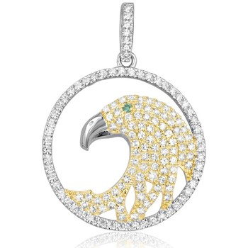 Watches Women Pendants Blue Pearls 147 White Swarovski Crystal Zirconia Eagle Pendant and 925 Silve Multicolored