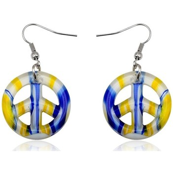 Watches Women Earrings Blue Pearls Earrings Peace Yellow Murano Glass Other