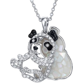 Watches Women Pendants Blue Pearls Abalone and White Swarovski Crystal Elements Panda Pendant Multicolored