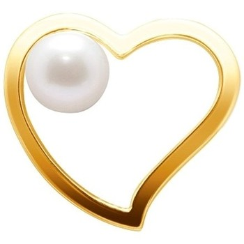 Watches Women Pendants Blue Pearls White Freshwater Pearl Heart Pendant and Yellow Gold 750/1000 Multicolored