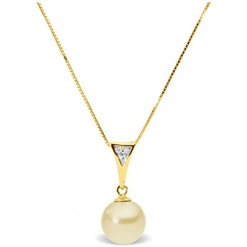 Watches Women Necklaces Blue Pearls Gold Freshwater Pearl and Diamonds Pendant and Yellow Gold 375/1 Multicolored