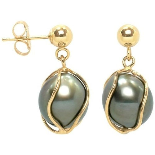 Watches Women Earrings Blue Pearls BPS K347 W Gold