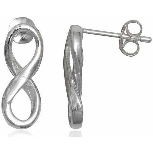 Watches Women Earrings Blue Pearls 925 Silver Infinity Earrings Multicolored